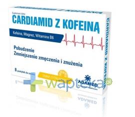 ADAMED CONSUMER HEALTHCARE S.A. Cardiamid Z Kofeiną Smak Cytrusowyi 8 Pastylek do ssania