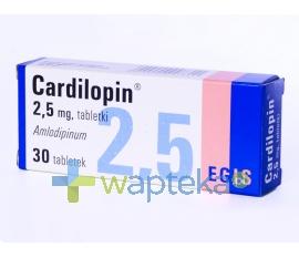 EGIS PHARMACEUTICALIS LTD. Cardilopin tabletki 2,5 mg 30 sztuk