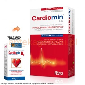 PURITANS PRIDE, INCORPORATED Cardiomin B6 60 tabletek