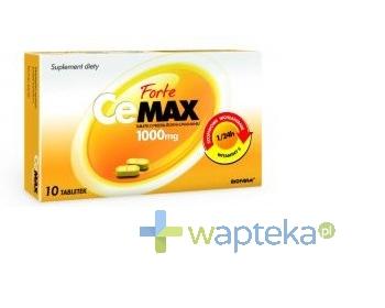 BIOFARM SP.Z O.O. CeMax Forte tabletki o przedłużonym uwalnianiu 1 g 10 tabletek - Krótka data ważności - do 31-12-2015