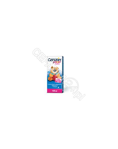 POLFARMEX Cerutin junior syrop o smaku malinowym 120 ml
