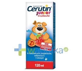 POLFARMEX S.A. Cerutin Junior syrop Truskawkowy 120ml