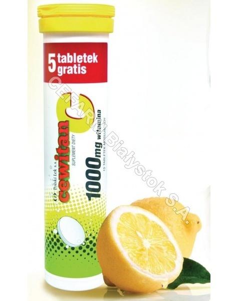 POLSKI LEK Cewitan x 15 tabl musujących (witamina c 1000 mg) o smaku cytrynowym