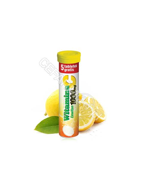 POLSKI LEK Cewitan x 15 tabl musujących (witamina c 1000 mg) o smaku pomarańczowym