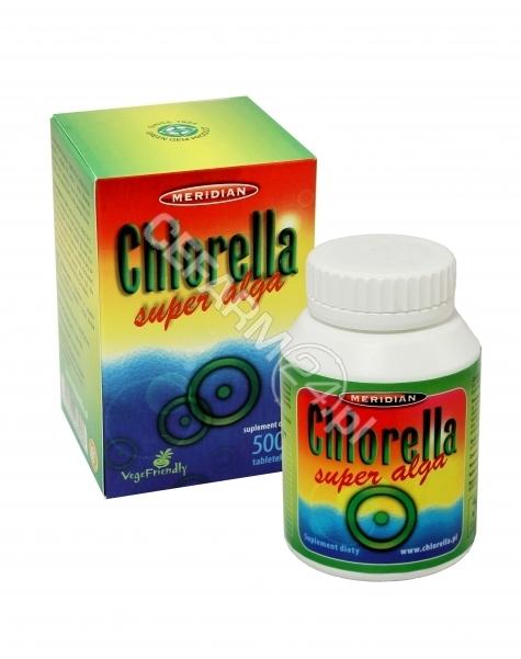 MERIDIAN Chlorella algi prasowane 200 mg x 500 tabl