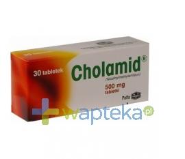 PABIANICKIE ZAKŁ.FARM. POLFA S.A. Cholamid 0,5 g 30 tabletek