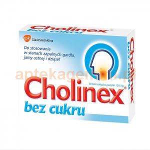 GLAXOSMITHKLINE Cholinex bez cukru, 150mg, 24 pastylek do ssania