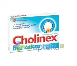 GLAXO WELLCOME S.A. Cholinex bez cukru 16 tabletek do ssania