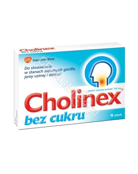 GLAXOSMITHKL Cholinex bez cukru x 16 pastylek