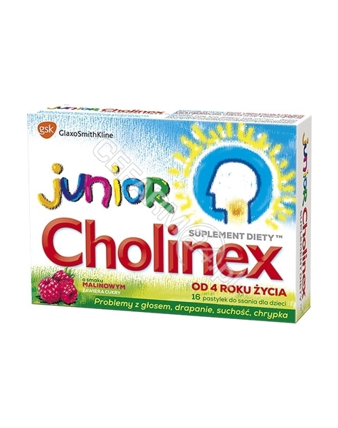 GLAXOSMITHKLINE PHARMACEUTICALS S.A. Cholinex Junior x 16 pastylek do ssania