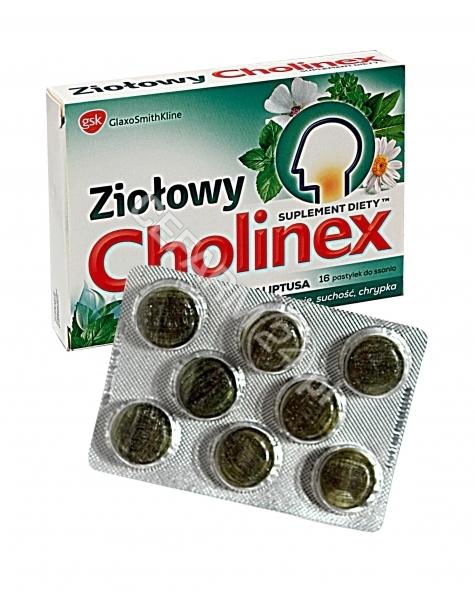 GLAXOSMITHKL Cholinex ziołowy o smaku mentolu i eukaliptusa x 16 pastylek do ssania