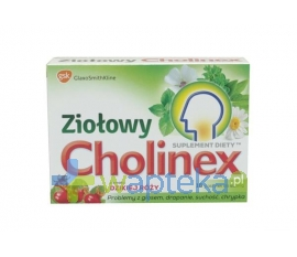 GLAXOSMITHKLINE PHARMACEUTICALS S.A. Cholinex Ziołowy smak dzikiej róży 16 pastylek do ssania