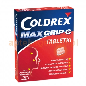 GLAXOSMITHKLINE Coldrex Maxgrip C, 24 tabletek