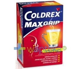 GLAXOSMITHKLINE Coldrex MaxGrip o smaku cytrynowym, 10 saszetek
