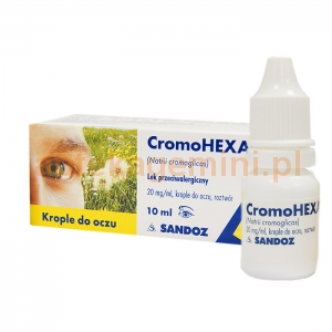 SANDOZ Cromohexal, krople do oczu 0,02 g/1ml, 10ml
