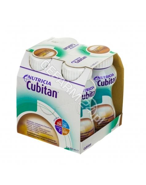 NUTRICIA Cubitan czekoladowy - Nutridrink dla chorych z odleżynami, trudno gojacymi się ranami 4 x 200 ml