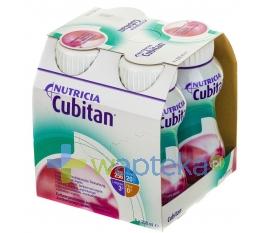 NUTRICIA POLSKA SP. Z O.O. Cubitan o smaku truskawkowym płyn odżywczy 4 x 200 ml - Krótka data ważności - do 13-10-2015