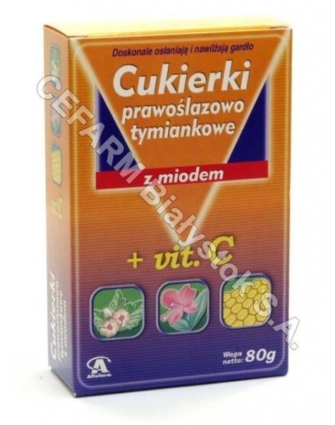AFLOFARM Cukierki prawoślazowo-tymiankowe z miodem 80 g