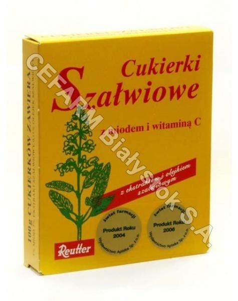 REUTTER Cukierki szałwiowe z miodem i vit.c 50 g