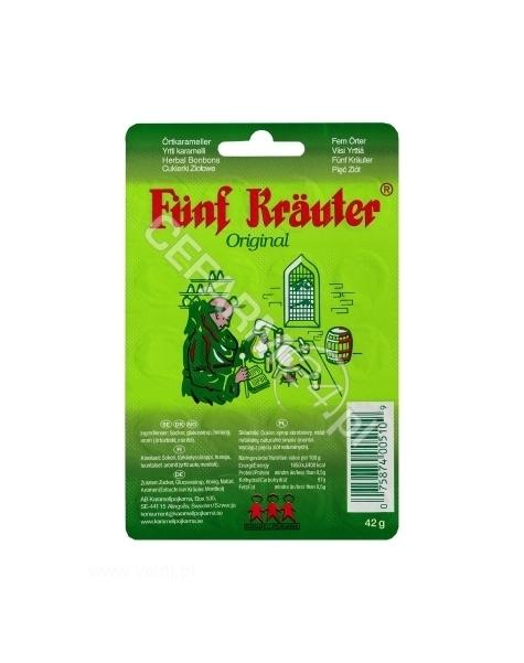 KARAMELLPOJKARNA Cukierki ziołowe Funf Krauter na ból gardła x 20 szt