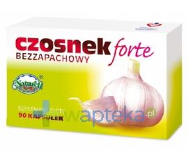 NATURELL POLSKA SP.Z O.O. Czosnek bezzapachowy forte 90 kapsułek