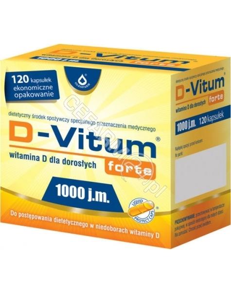 OLEOFARM D-vitum forte 1000 j.m. witamina d dla dorosłych x 120 kaps