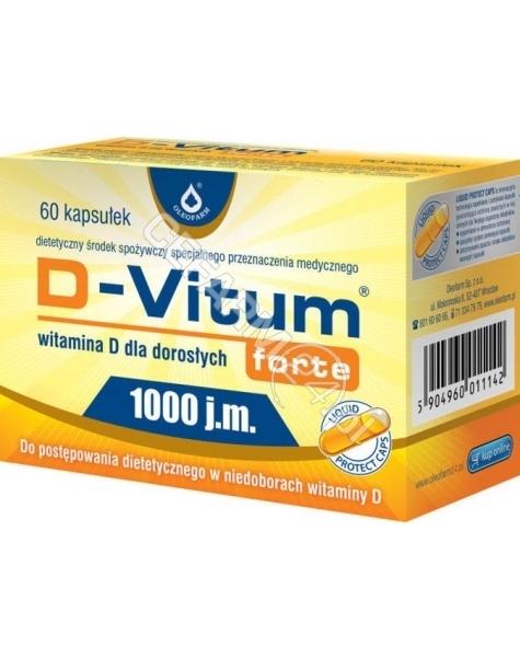 OLEOFARM D-vitum forte 1000 j.m witamina d dla dorosłych x 60 kaps