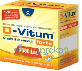 OLEOFARM SP. Z O.O. D-Vitum Forte Witamina D-2000 120 kapsułek