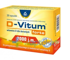 OLEOFARM D-Vitum Forte Witamina D-2000 36 kapsułek