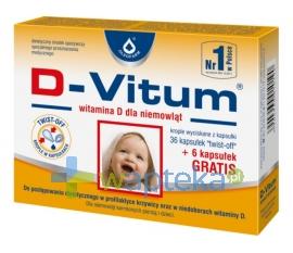 OLEOFARM D-Vitum Witamina D dla niemowląt 36 + 6 kapsułek