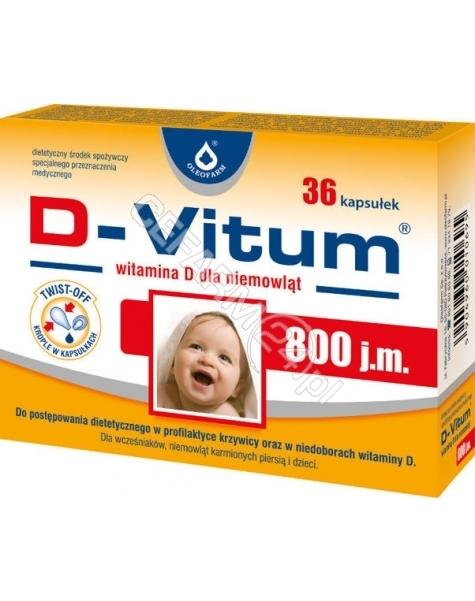 OLEOFARM D-vitum witamina d dla niemowląt 800 j.m x 36 kaps