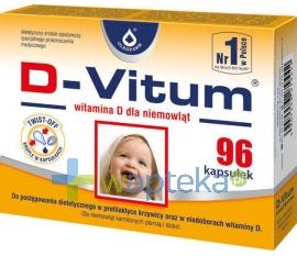 OLEOFARM D-Vitum Witamina D dla niemowląt 96 kapsułek