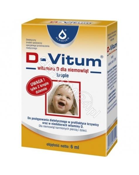 OLEOFARM D-vitum witamina d dla niemowląt krople 6 ml