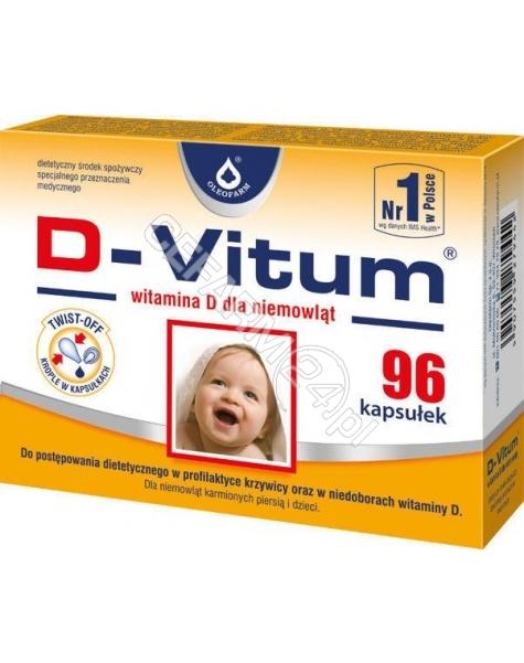 OLEOFARM D-vitum witamina d dla niemowląt x 96 kaps