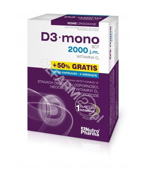 HOLBEX D3 mono 2000 j.m.(witamina d3) x 60 kaps + 30 kaps GRATIS !!!