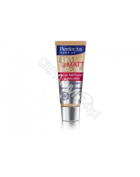 DAX COSMETICS Dax cosmetics perfecta 8w1 Matt & Cover podkład matujący z C - hialuron 02 naturalny beż 30 ml