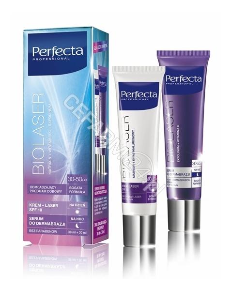 DAX COSMETICS Dax cosmetics perfecta Biolaser 30-50 lat bogata formuła - krem-laser na dzień 30 ml + serum na noc 30 ml