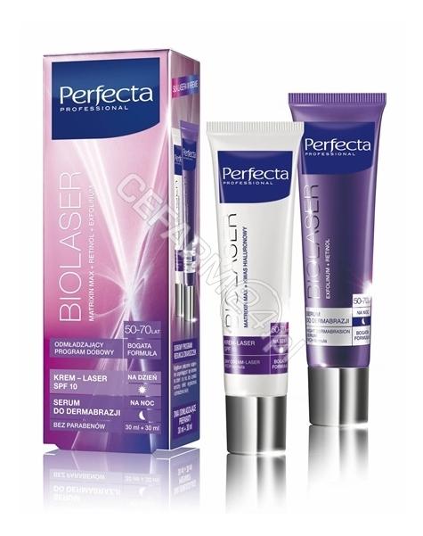 DAX COSMETICS Dax cosmetics perfecta Biolaser 50-70 lat bogata formuła - krem-laser na dzień 30 ml + serum na noc 30 ml