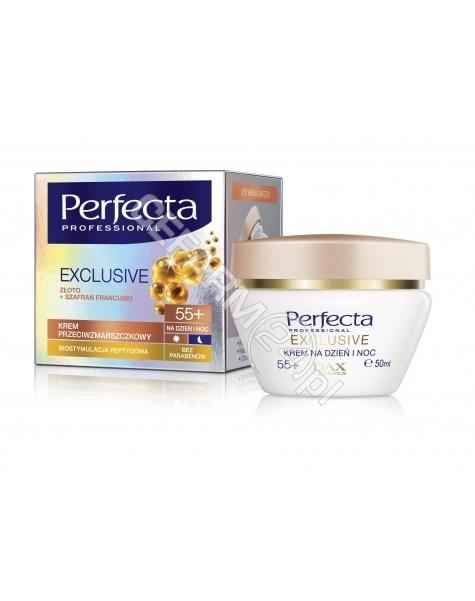 DAX COSMETICS Dax cosmetics perfecta exclusive gold 55+ przeciwzmarszczkowy krem na dzień i noc 50 ml