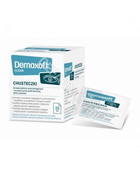 VERCO Demoxoft clean x 20 chusteczek do powiek