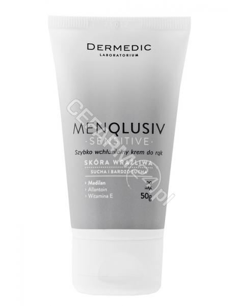 BIOGENED Dermedic Menqlusiv Sensitive szybko wchłanialny krem do rąk 50 g