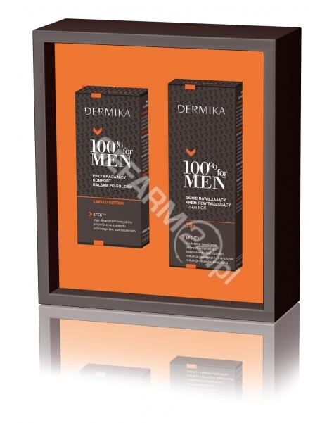 CEDERROTH Dermika promocyjny zestaw 100% for Men - silnie nawilżający krem rewitalizujący na dzień i noc 30+ 50 ml + balsam po goleniu 40 ml GRATIS!!!