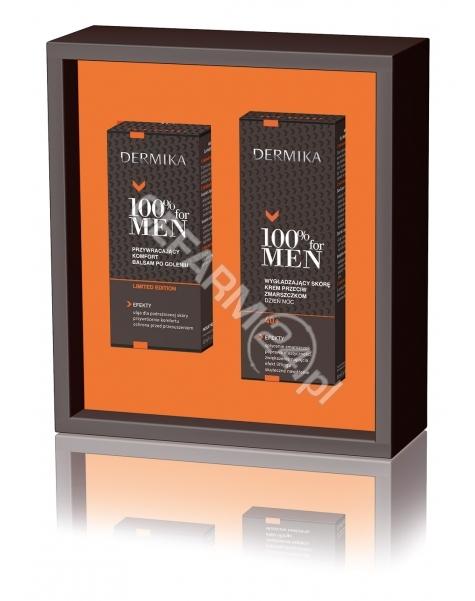 CEDERROTH Dermika promocyjny zestaw 100% for Men - wygładzający skórę krem przeciw zmarszczkom na dzień i noc 40+ 50 ml + balsam po goleniu 40 ml GRATIS!!!