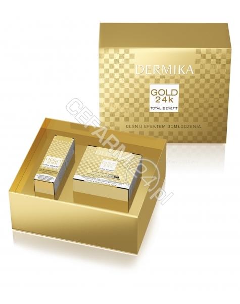 CEDERROTH Dermika promocyjny zestaw Gold 24 k 55+ - Stymulator Młodości luksusowy krem na dzień 50 ml + optyczny korektor zmarszczek 10 ml GRATIS!!!