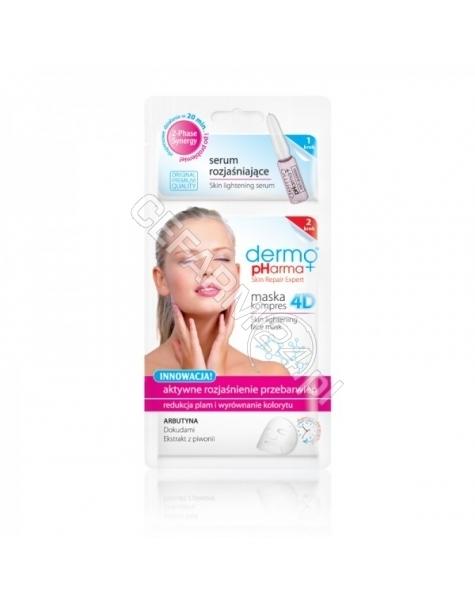 ESTETICA Dermo Pharma aktywne rozjaśnianie przebarwień hydorożelowa maska 4D + serum rozjaśniające 2 ml (data ważności 31.07.2016)