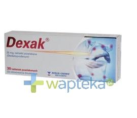 BERLIN CHEMIE AG (MENARINI GROUP) Dexak 0,025 g 10 tabletek