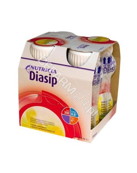 NUTRICIA Diasip waniliowy - Nutridrink dla diabetyków 4 x 200 ml