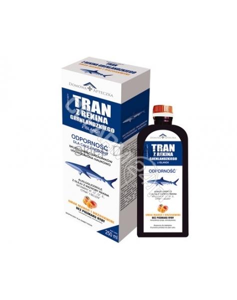 DOMOWA APTEC Domowa apteczka tran z rekina grenlandzkiego syrop 250 ml ( smak mango-brzoskwinia)