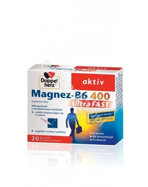 QUEISSER Doppel herz aktiv magnez-b6 ultrafast x 20 sasz