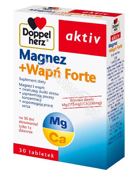 QUEISSER Doppel herz aktiv magnez+wapń forte x 30 tabl